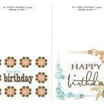 Small Printable Birthday Cards | Zwonzorg   Free Printable Happy Birthday Cards For Dad