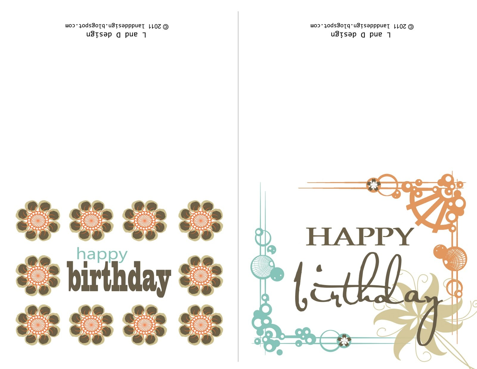 Small Printable Birthday Cards | Zwonzorg - Free Printable Happy Birthday Cards For Dad