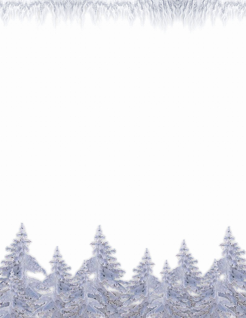 Snowflake Letterhead Template Free Snowflake Clipart Page Border - Free Printable Winter Stationery