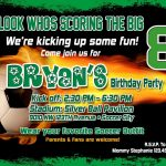 Soccer Birthday Party Invitation Template | Birthday Party | Soccer   Free Printable Soccer Birthday Invitations