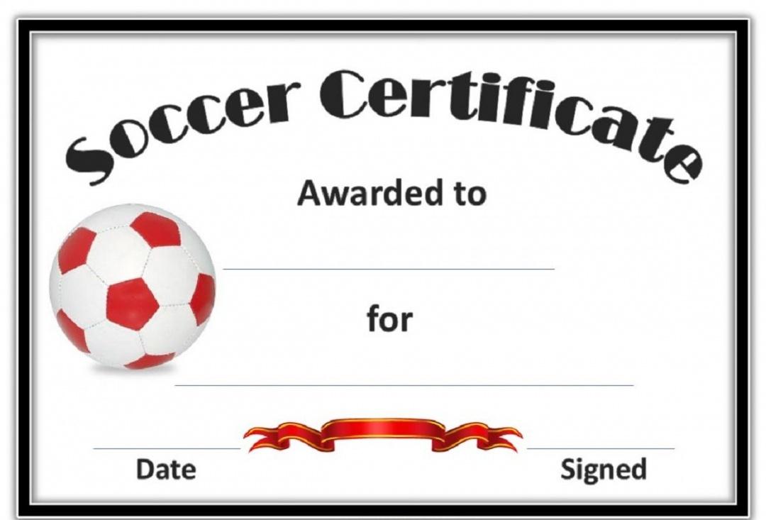 Soccer Certificate Template - Free Soccer Award Certificates Printable