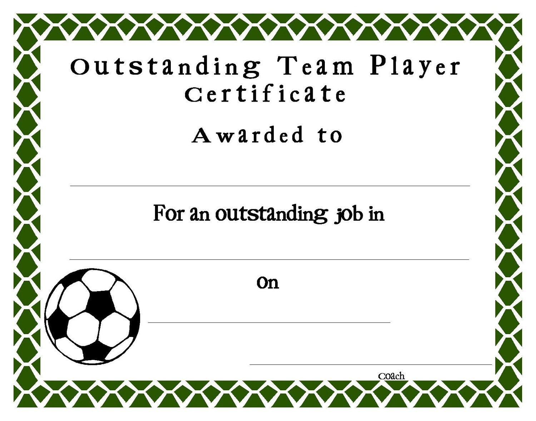 Soccer Certificate Templates Blank | K5 Worksheets | Sports - Sports Certificate Templates Free Printable