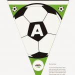 Soccer Letter Bunting   Free Printable | Soccer Party | Soccer   Free Printable Soccer Birthday Invitations