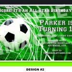 Soccer Themed Birthday Party Invitations | Birthday Party | Soccer   Free Printable Soccer Birthday Invitations