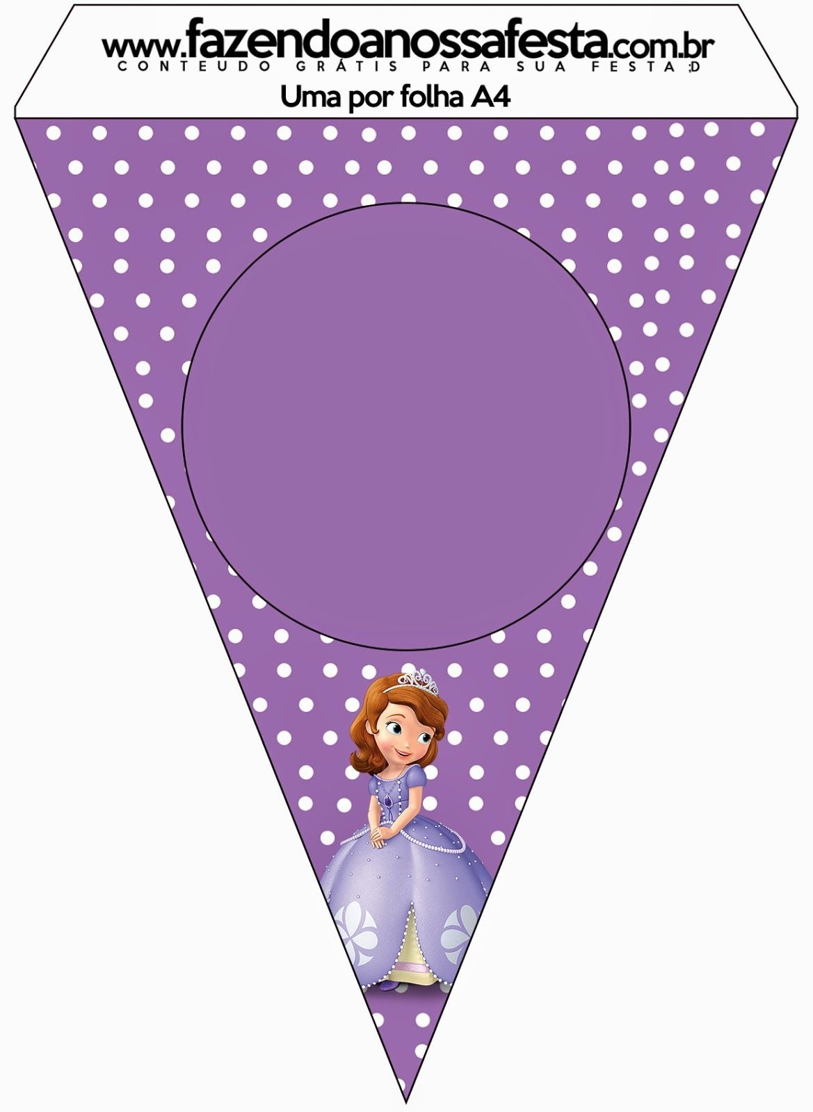 Sofia The First: Free Party Printables And Images. | Savy's 1St - Free Printable Princess Birthday Banner