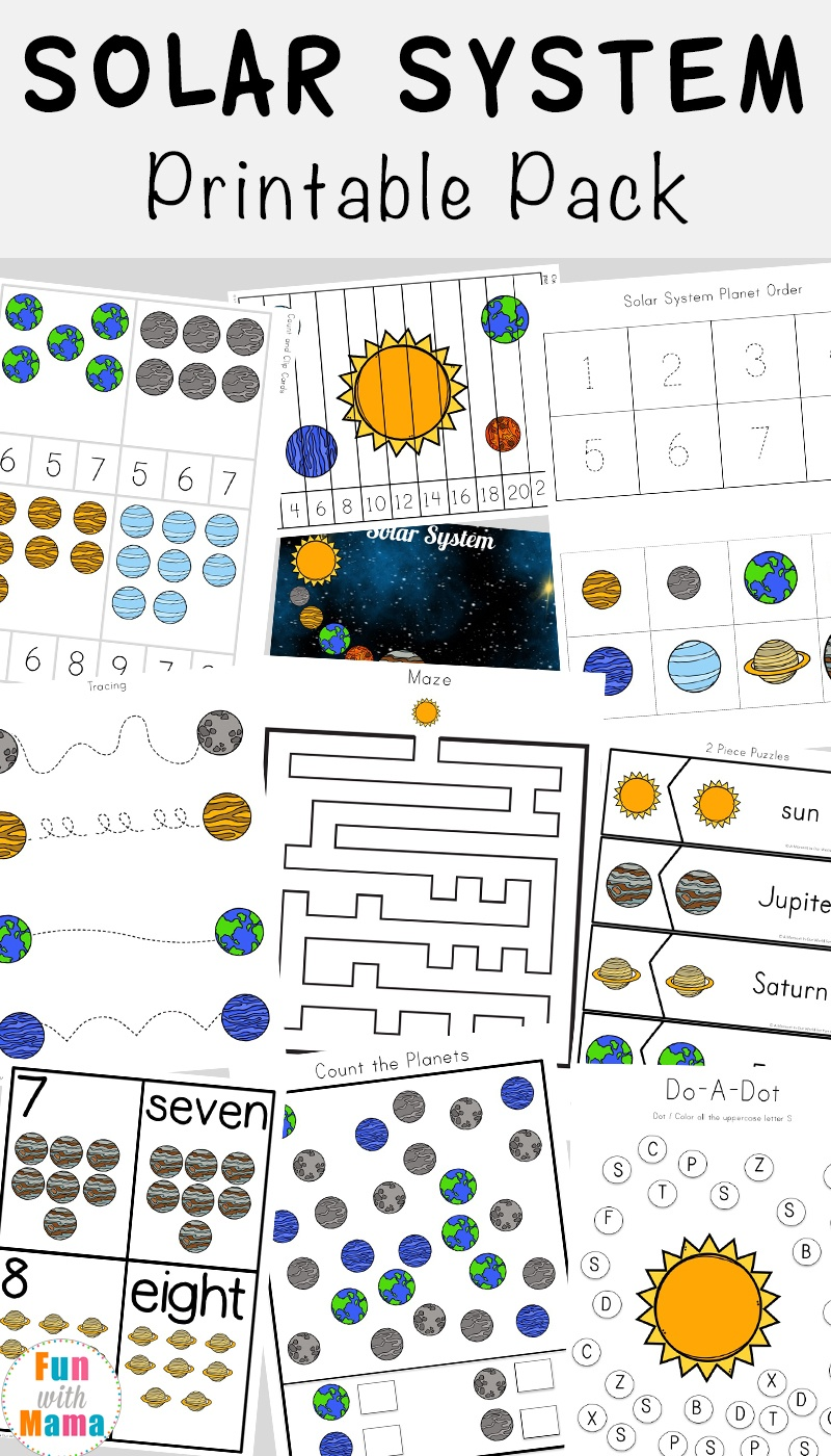 Solar System Printable Worksheets And Activities Pack - Fun With Mama - Free Printable Solar System Worksheets