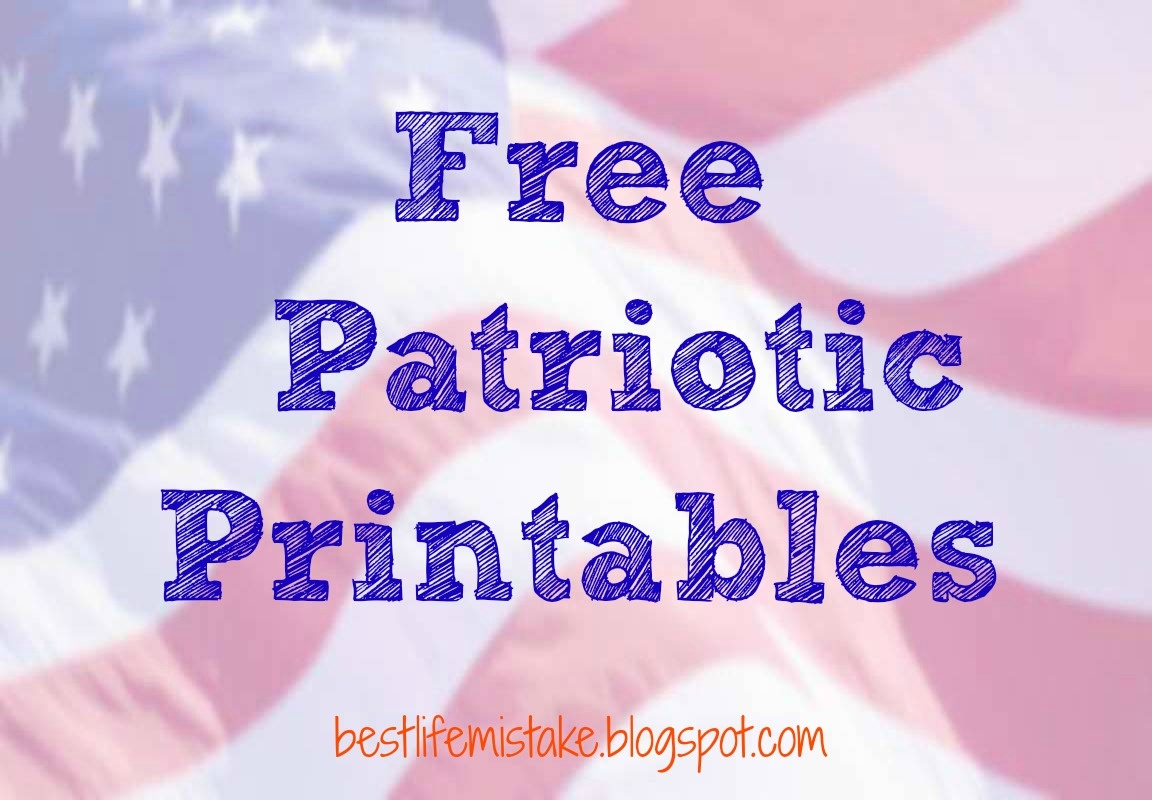 Some Of The Best Things In Life Are Mistakes: Free Patriotic Printables - Free Printable Patriotic Writing Paper
