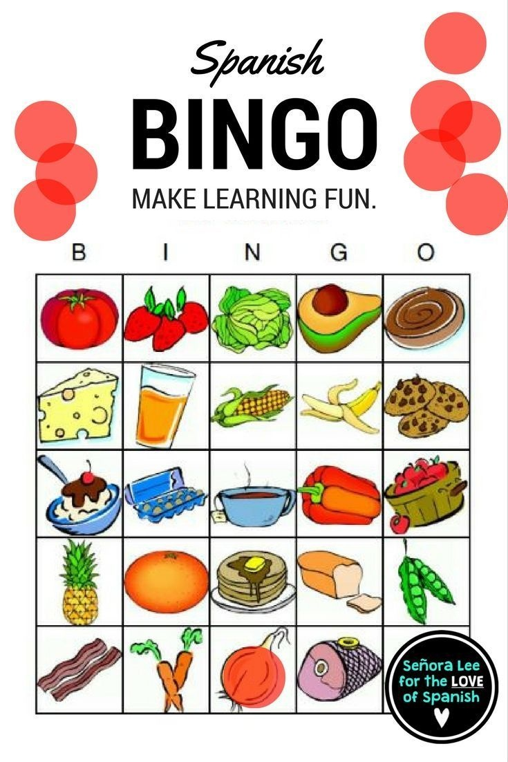 Spanish Food - Bingo | Español | Spanish Food, Middle School Spanish - Free Printable Spanish Bingo Cards