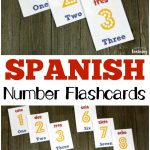 Spanish Number Flashcards 1 10   Look! We're Learning!   Free Printable Spanish Numbers