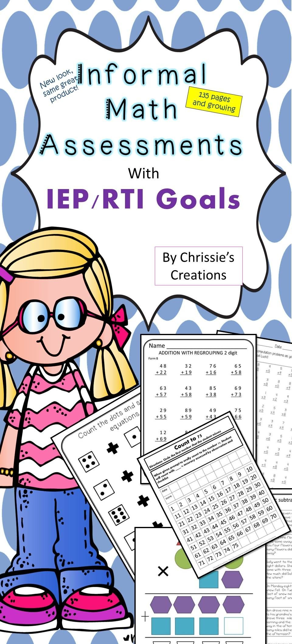 Special Education: Basic Skills- Math Assessments And Data - Free Printable Informal Math Assessments