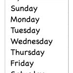 Spelling – Days Of The Week / Free Printable Worksheets – Worksheetfun   Free Printable Days Of The Week
