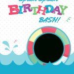 Splish Splash   Free Printable Summer Party Invitation Template   Free Printable Pool Party Invitation Cards