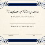 Sports Cetificate | Certificate Of Recognition A4 Thumbnail   Sports Certificate Templates Free Printable