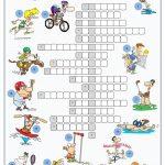 Sports Crossword Puzzle Worksheet   Free Esl Printable Worksheets   Free Printable Sports Crossword Puzzles