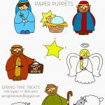 Spring Time Treats: Nativity Paper Puppets   Free Printables | Mdo   Free Printable Nativity Story