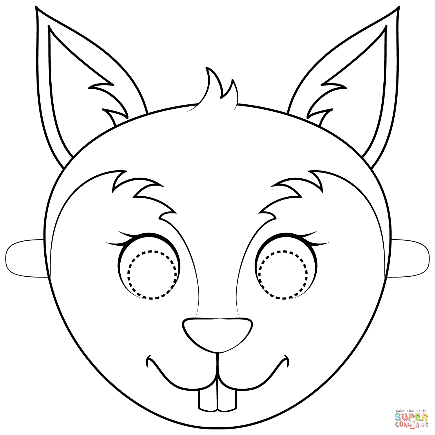 Squirrel Mask Coloring Page | Free Printable Coloring Pages - Free Printable Chipmunk Mask