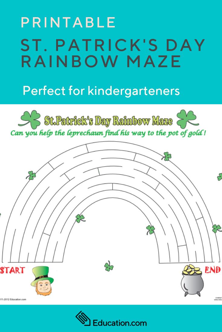 St. Patrick's Day Maze | St. Patrick's Day | Maze Worksheet - Free Printable St Patrick's Day Mazes