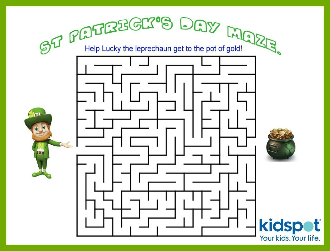 St Patrick's Day - Mazes - Free Printable | St. Patrick's Day - Free Printable St Patrick's Day Mazes
