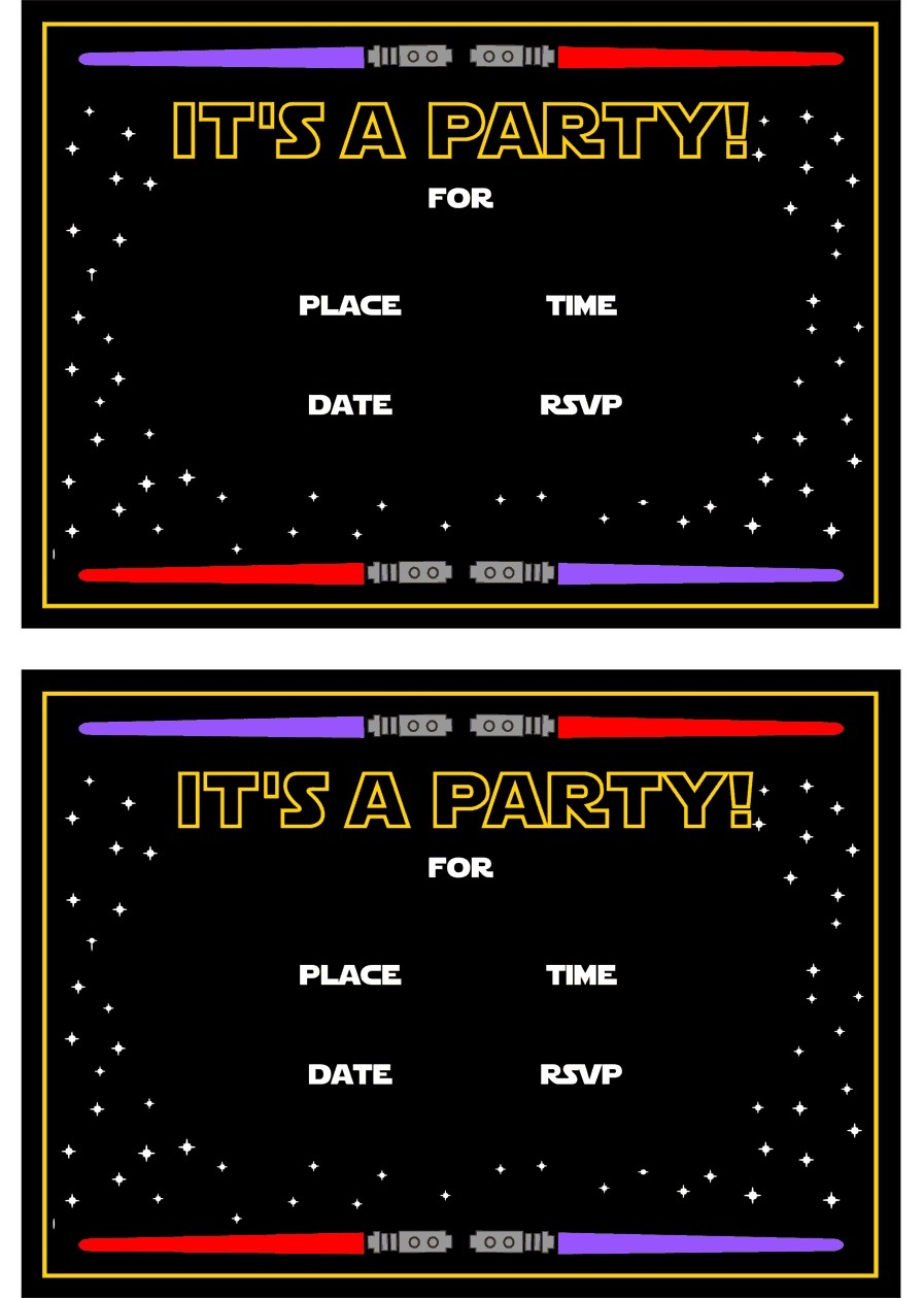 Star Wars Free Printables | Catch My Party - Star Wars Invitations Free Printable
