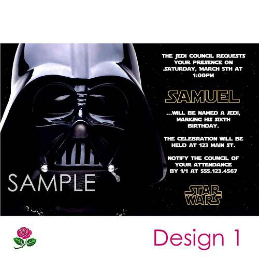 Star Wars Party Invitations Free Printable 5 | Enrique | Star Wars - Star Wars Invitations Free Printable