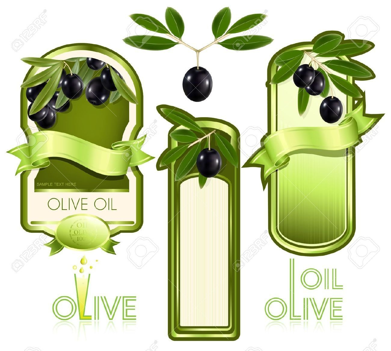 Stock Vector | Scrappin | Olive Oil, Printable Recipe Cards Y Tag - Free Printable Olive Oil Labels