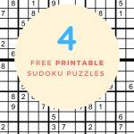 Sudoku Free Printable   4 Intermediate Sudoku Puzzles   Puzzle Parade   Download Printable Sudoku Puzzles Free