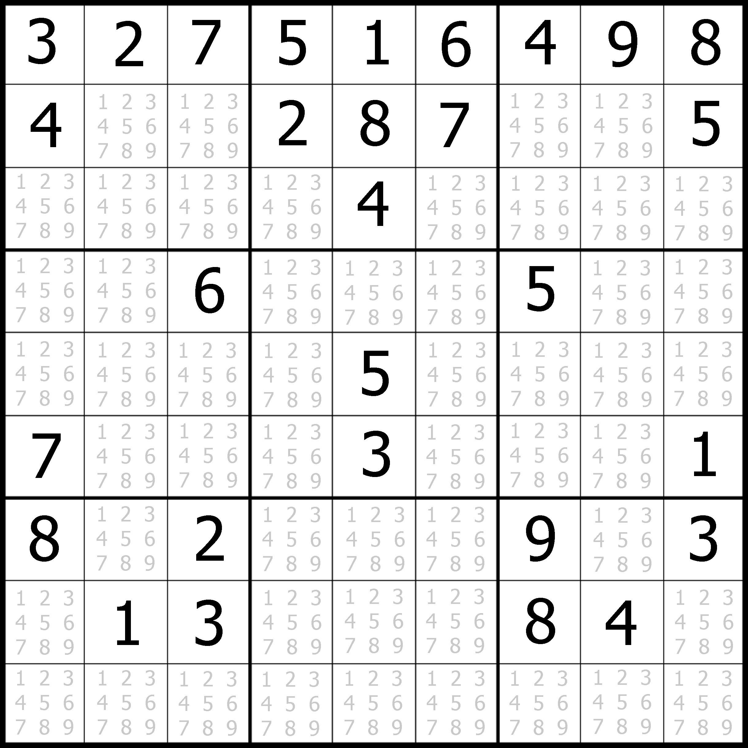 Sudoku Printable | Free, Medium, Printable Sudoku Puzzle #1 | My - Download Printable Sudoku Puzzles Free
