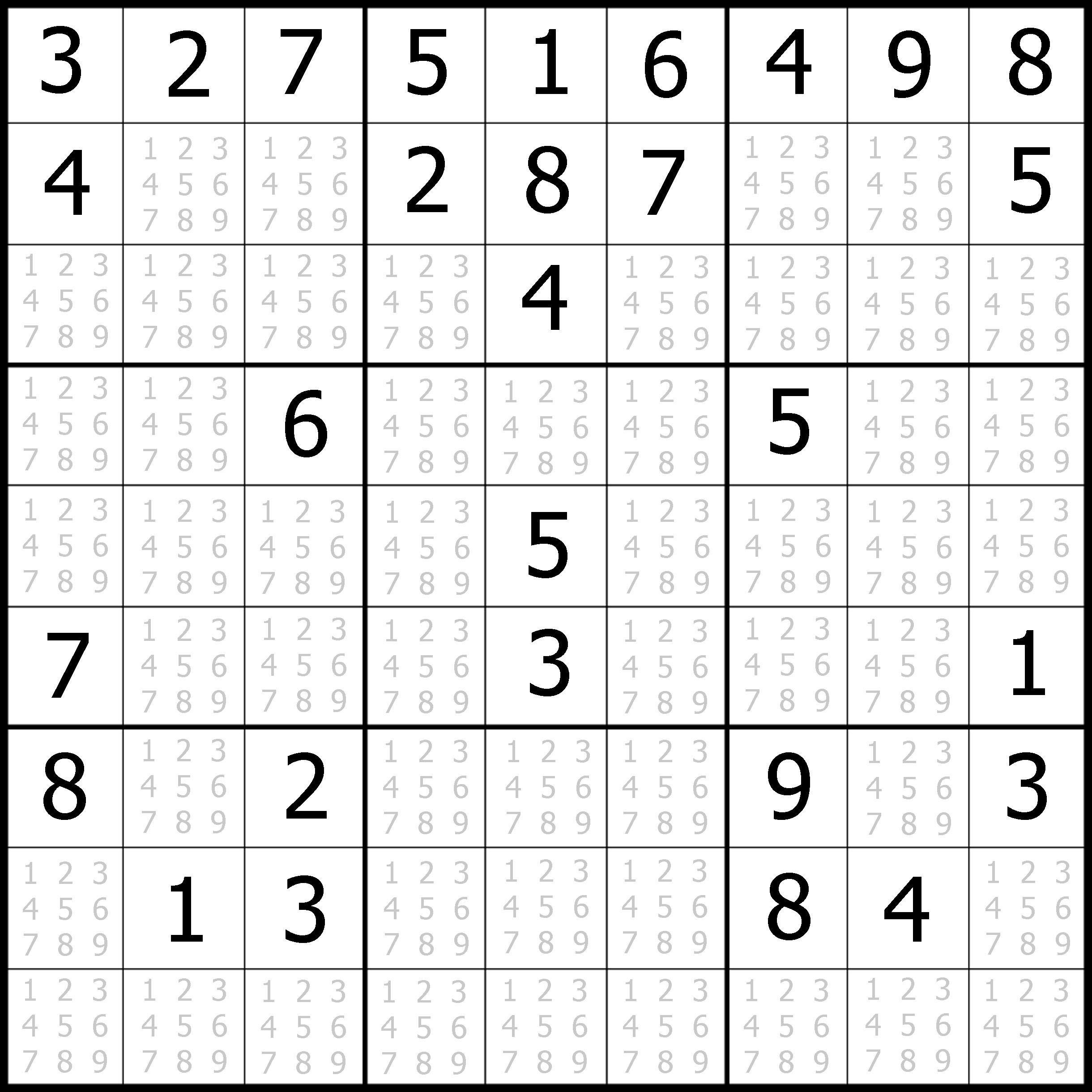 Sudoku Printable | Free, Medium, Printable Sudoku Puzzle #1 | My - Free Printable Sudoku