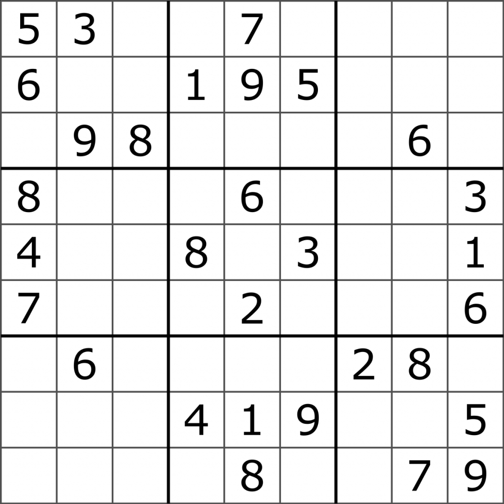 Sudoku - Wikipedia | Super Sudoku Printable Download | Printable - Download Printable Sudoku Puzzles Free