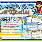 Summer Camp Certificates | A Teacher In Paradise Certificates   Free Printable Camp Certificates