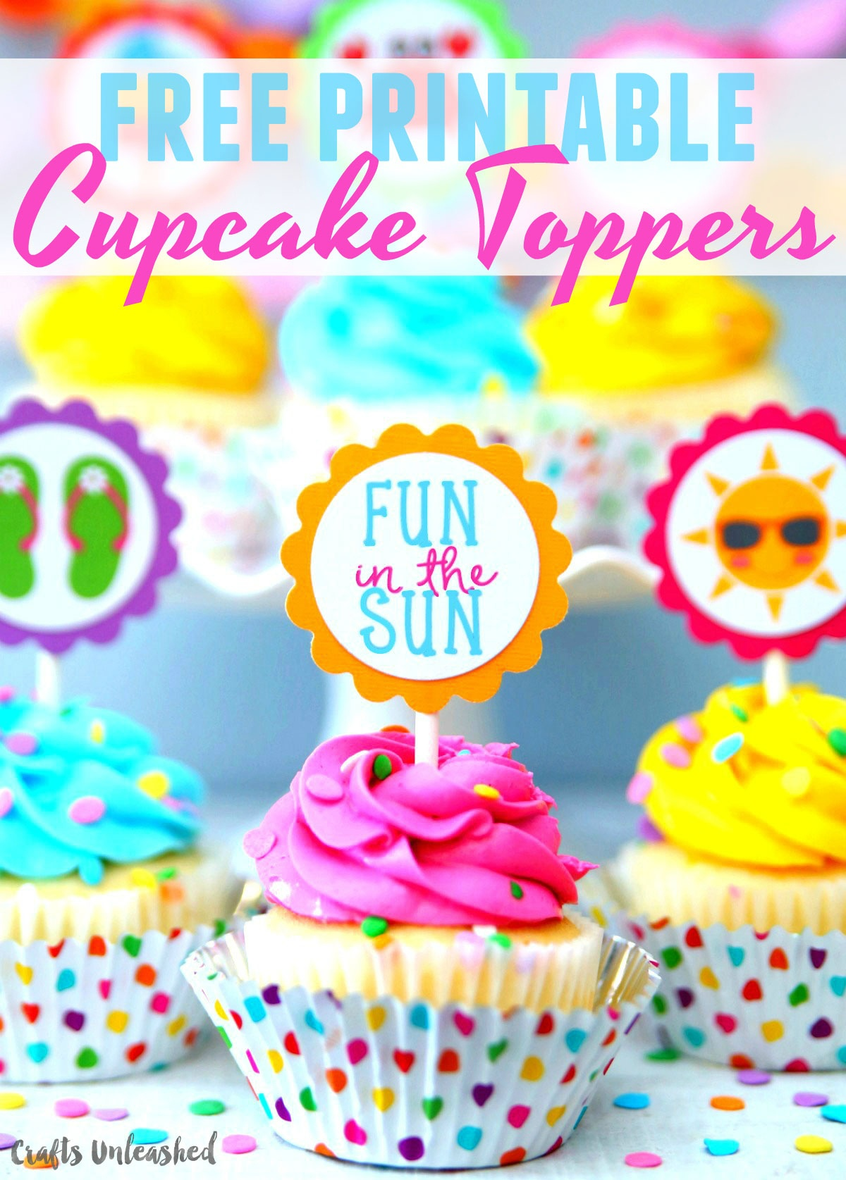 Summer Cupcake Toppers: Free Printables - Consumer Crafts - Free Printable Cupcake Toppers