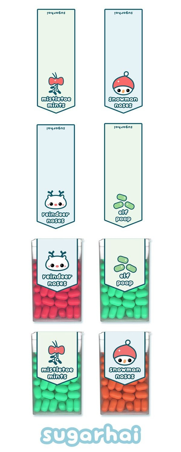Super Cute Free Printable Holiday Tic Tac Labels Including Mistletoe - Free Printable Tic Tac Labels