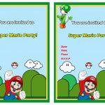 Super Mario Birthday Invitations | Birthday Printable   Free Printable Super Mario Bros Invitations