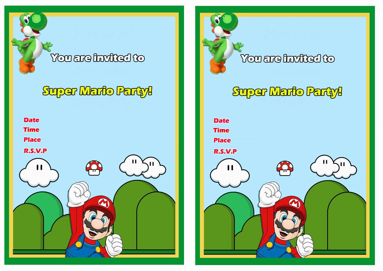 Super Mario Birthday Invitations | Birthday Printable - Free Printable Super Mario Bros Invitations