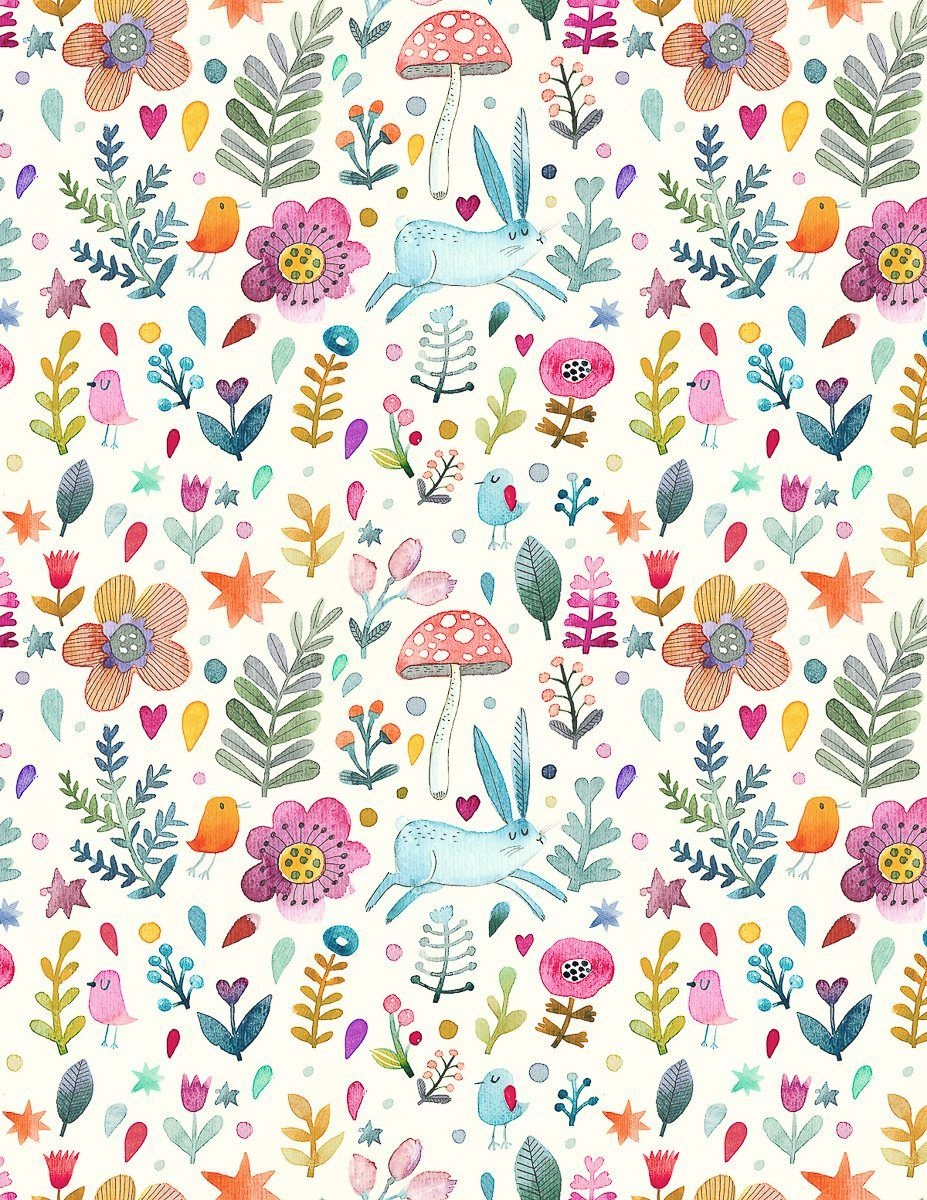 Sweet Watercolor Bunny Gift Wrap – Free Printable   Gift Wrapping - Free Printable Easter Wrapping Paper