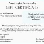 Tattoo Gift Certificate Template Free | Emetonlineblog   Free Printable Tattoo Gift Certificates