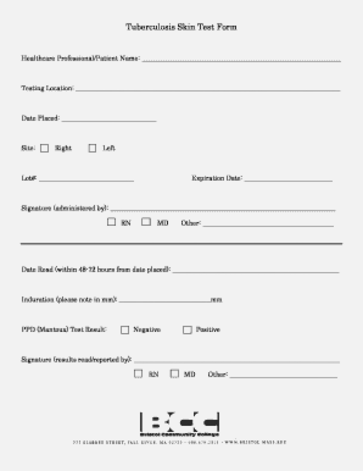 Tb Test Result Form Primary Addition Printable 14 Step Forms - Free Printable Tb Test Form