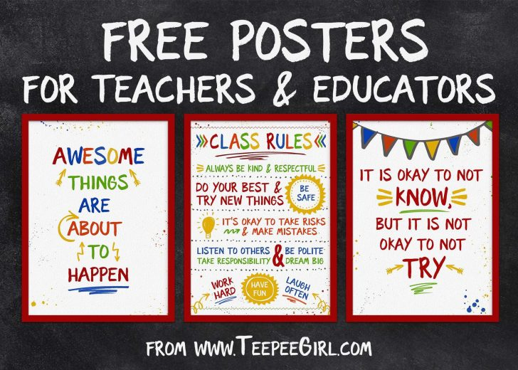 Free Printable Posters For Teachers