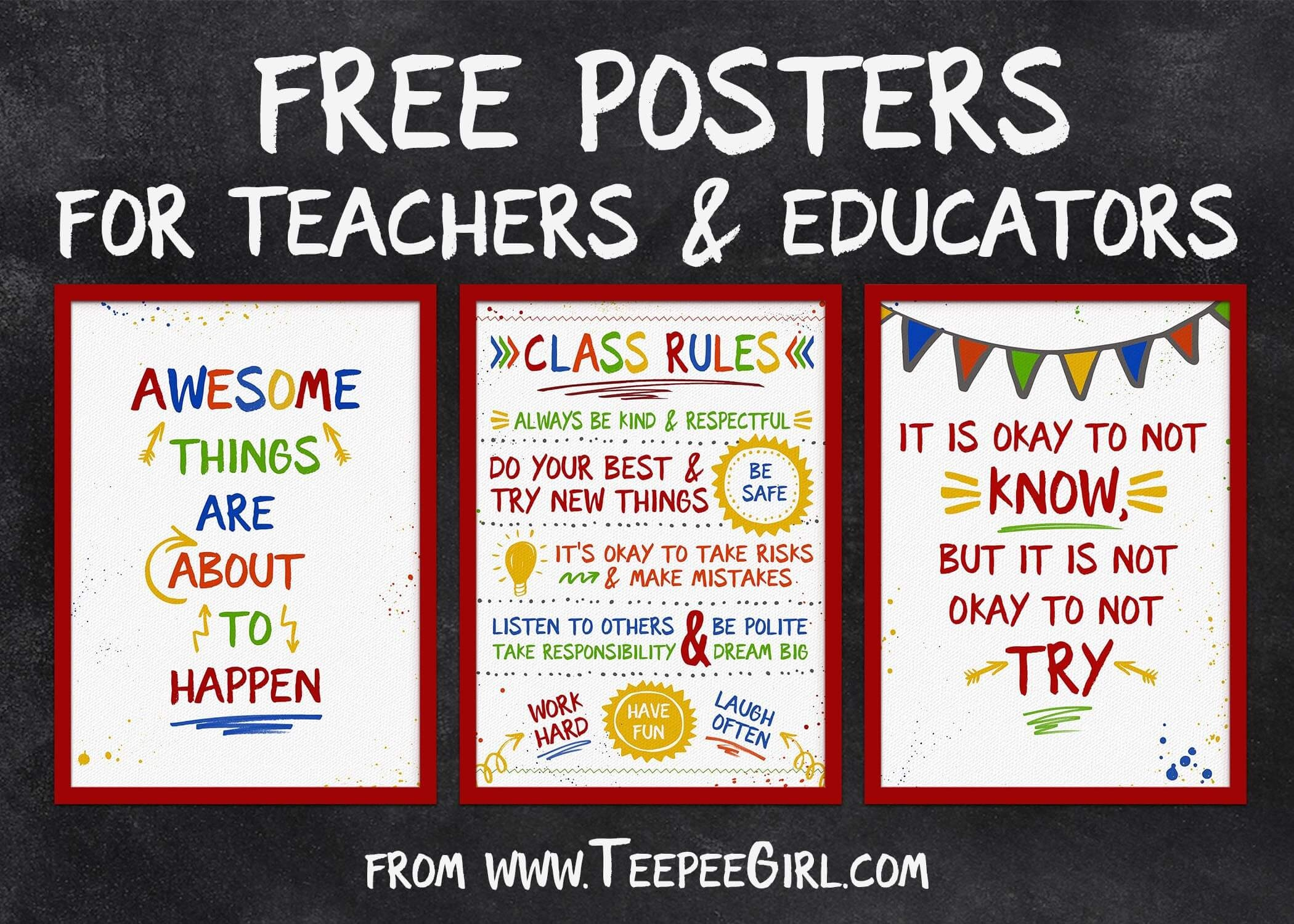 Teacher Appreciation Archives - Teepee Girl - Free Printable Posters For Teachers