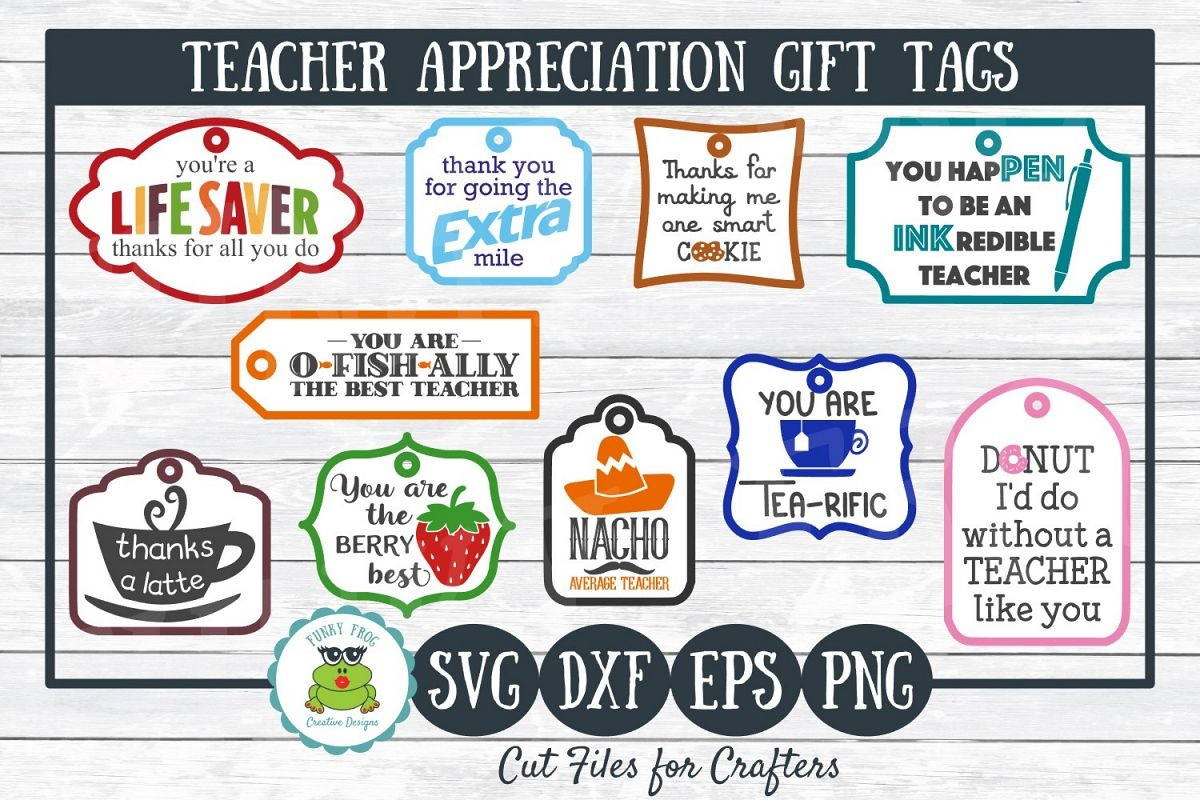 Teacher Appreciation Gift Tags-Print And Cut, Svg Cut Files - Free Printable Lifesaver Tags