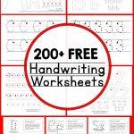 Teaching Handwriting   The Measured Mom   Free Printable Handwriting Sheets For Kindergarten