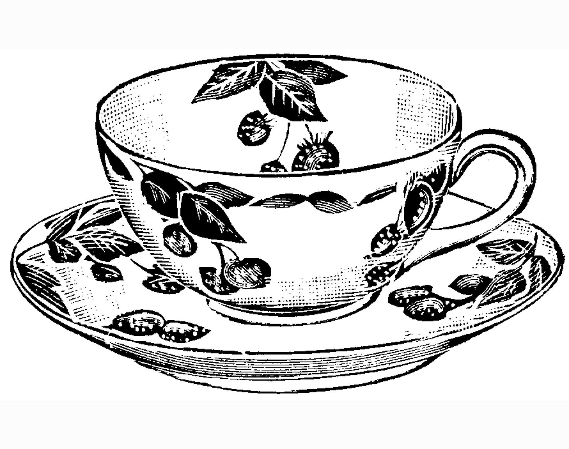 Teacup Print   Craft & Create   Tea Cup Drawing, Tea Cups, Tea - Free Printable Tea Cup Coloring Pages
