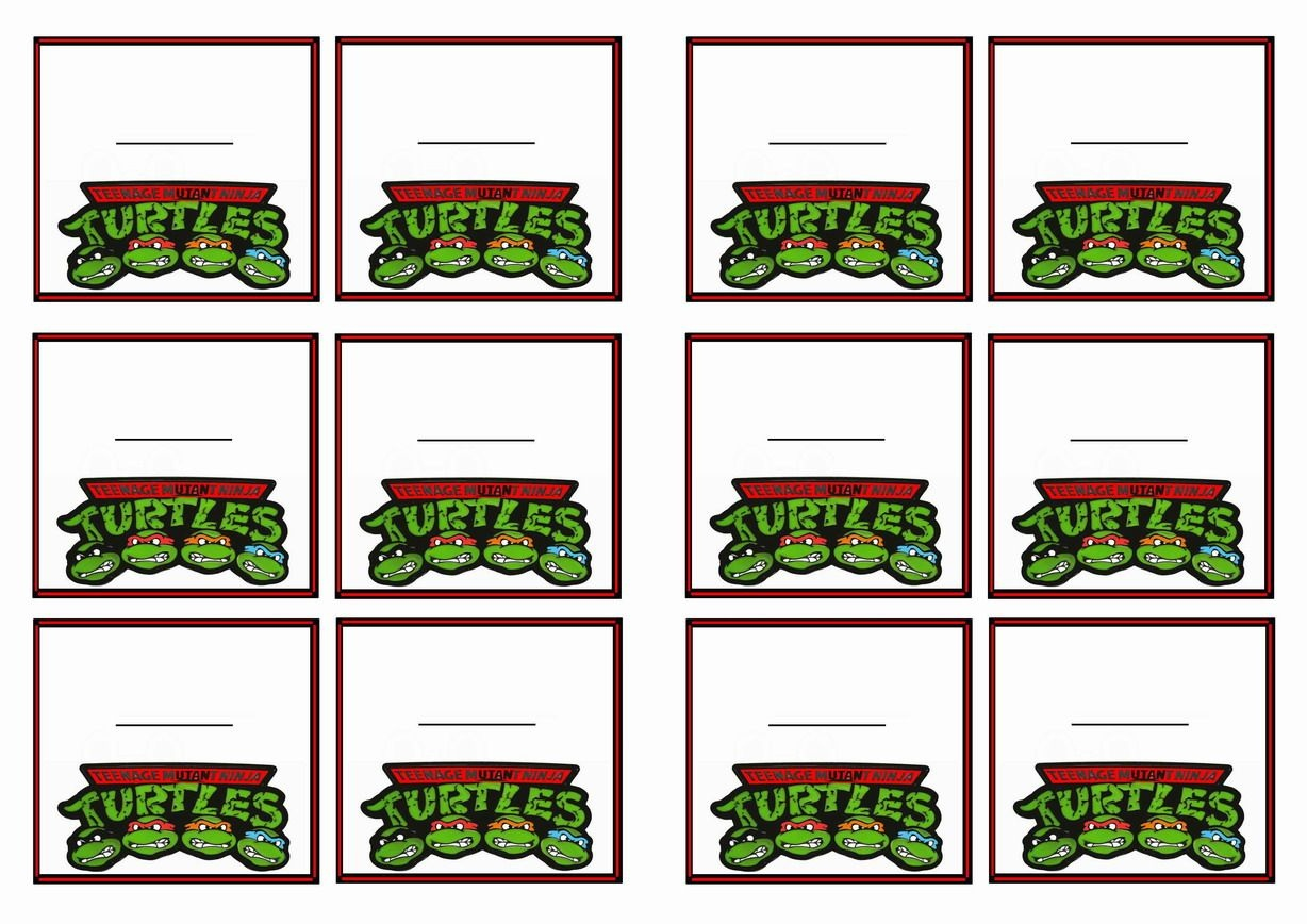 Teenage Mutant Ninja Turtles Birthday Printable Name Tags Click - Free Printable Tmnt Food Labels