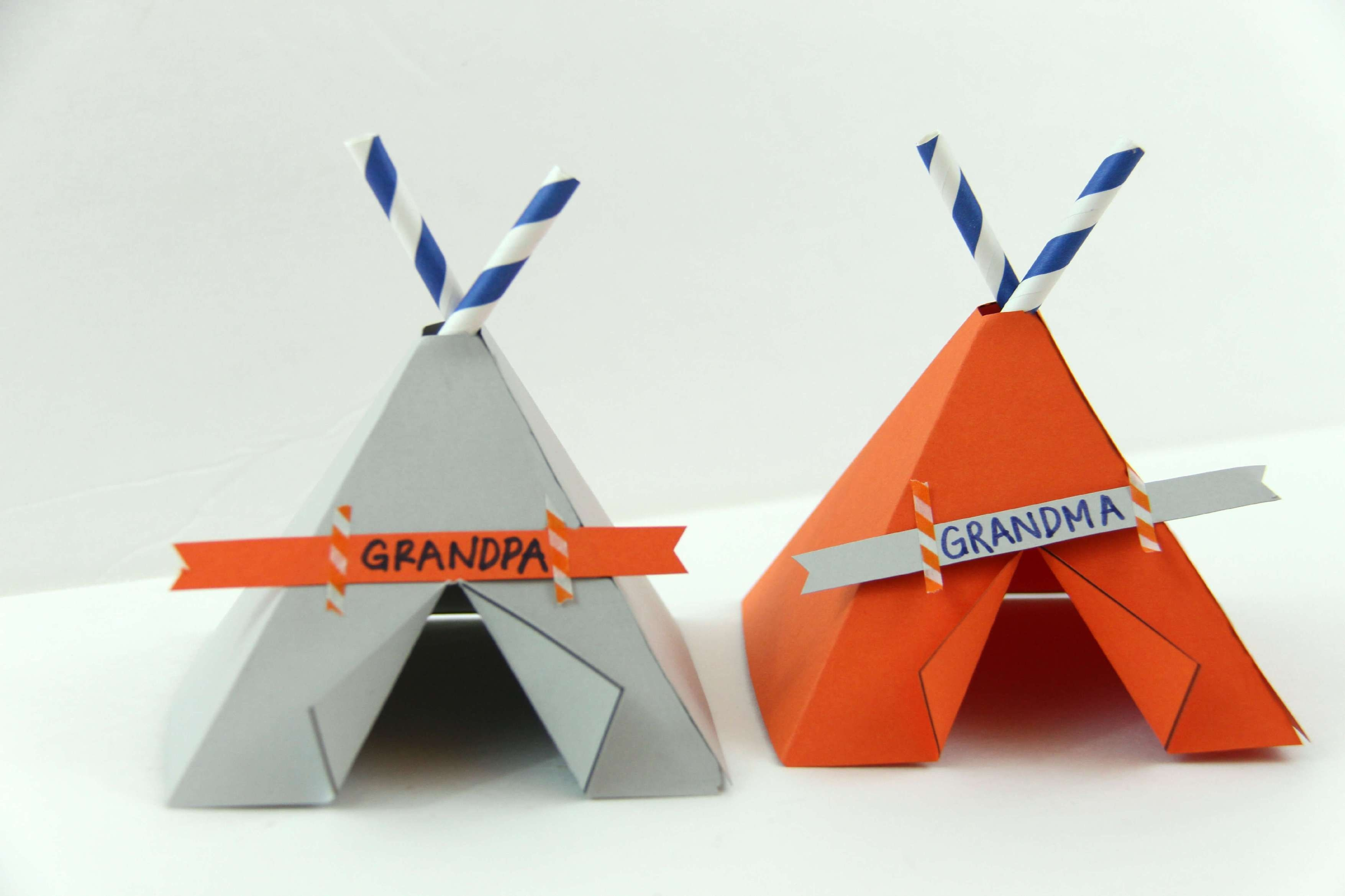 Teepee Name Place Cards | Free Printable Teepees | Thanksgiving - Free Printable Teepee