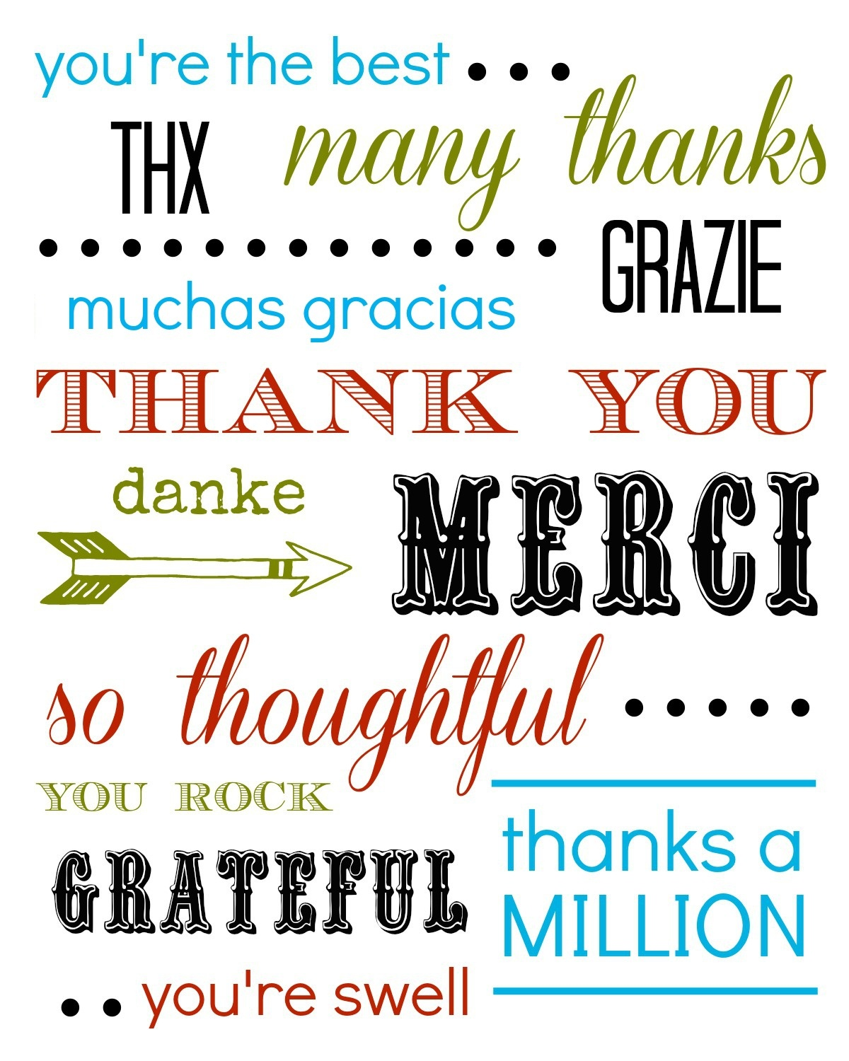 Thank You Card Free Printable - Free Printable Thank You Cards
