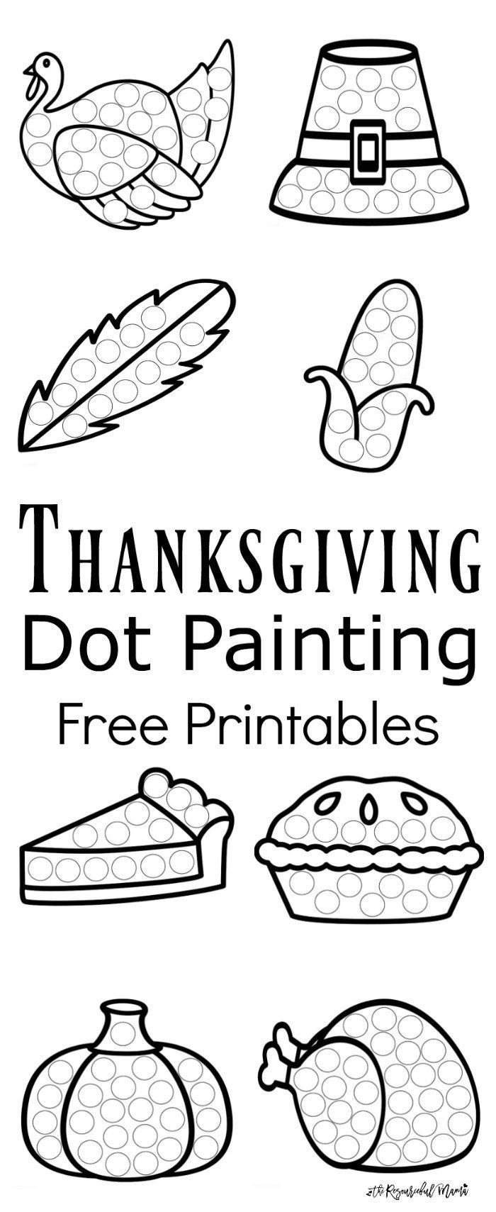 Thanksgiving Dot Painting {Free Printables} | Pre-K Activities - Free Printable Thanksgiving Activities For Preschoolers
