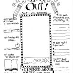 The Coolest Free Printable End Of School Coloring Page | Bloggers   Free Printable Preschool Memory Book