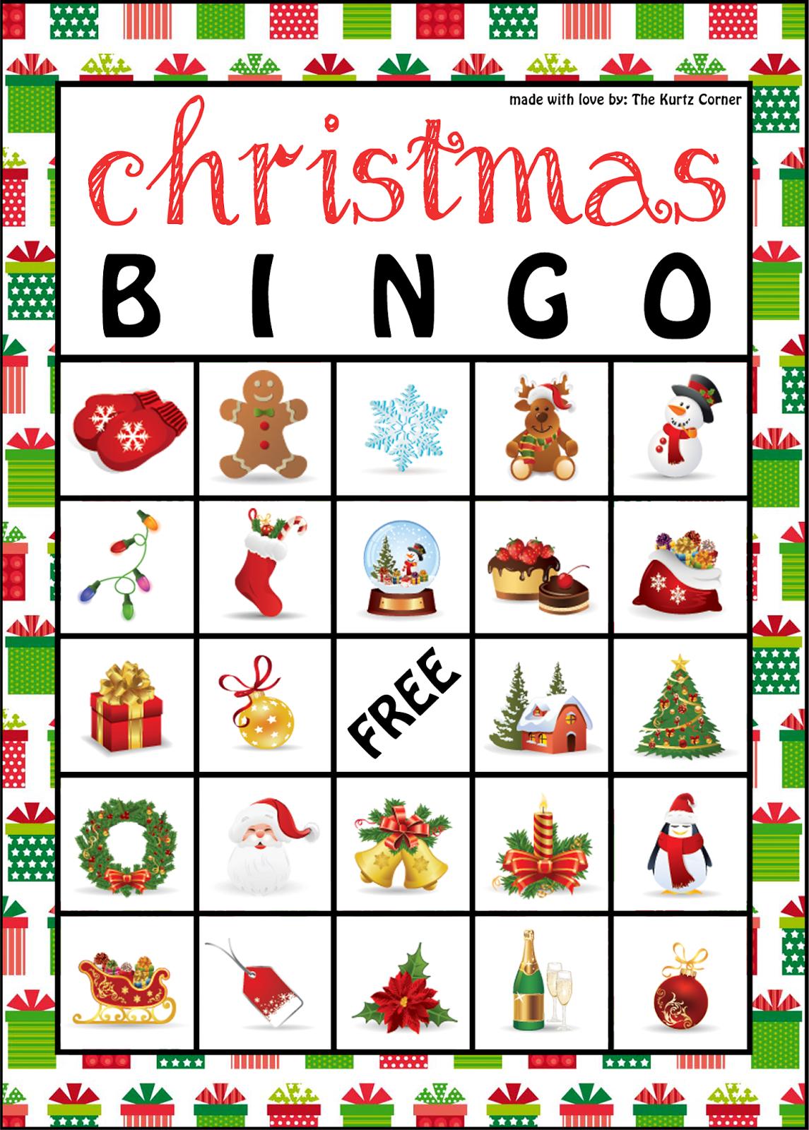 The Kurtz Corner: Free Printable Christmas Bingo Cards   Winter / X - Free Printable Bingo Cards For Large Groups