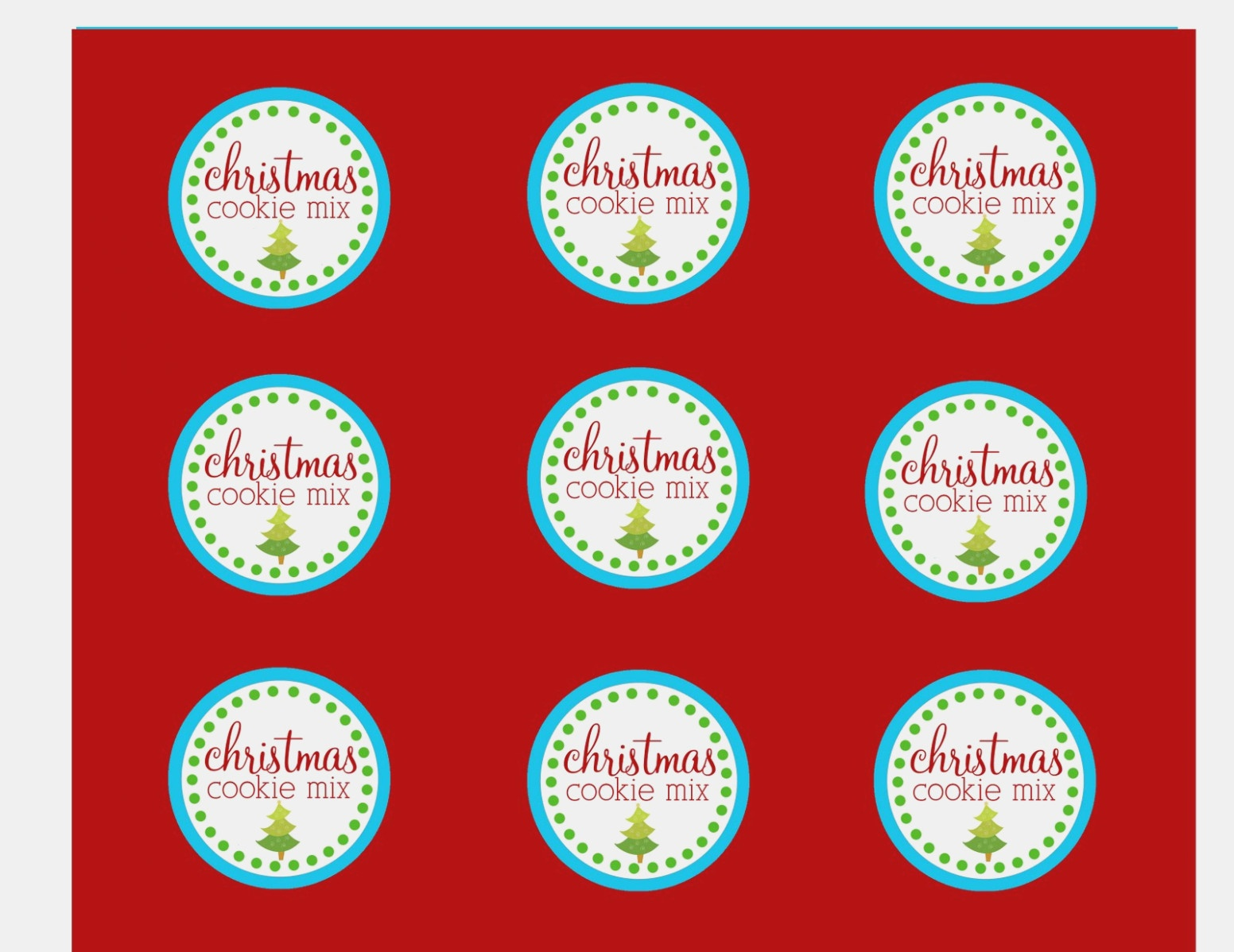 The Larson Lingo: Christmas Cookies In A Jar Free Printable - Free Printable Jar Labels Christmas