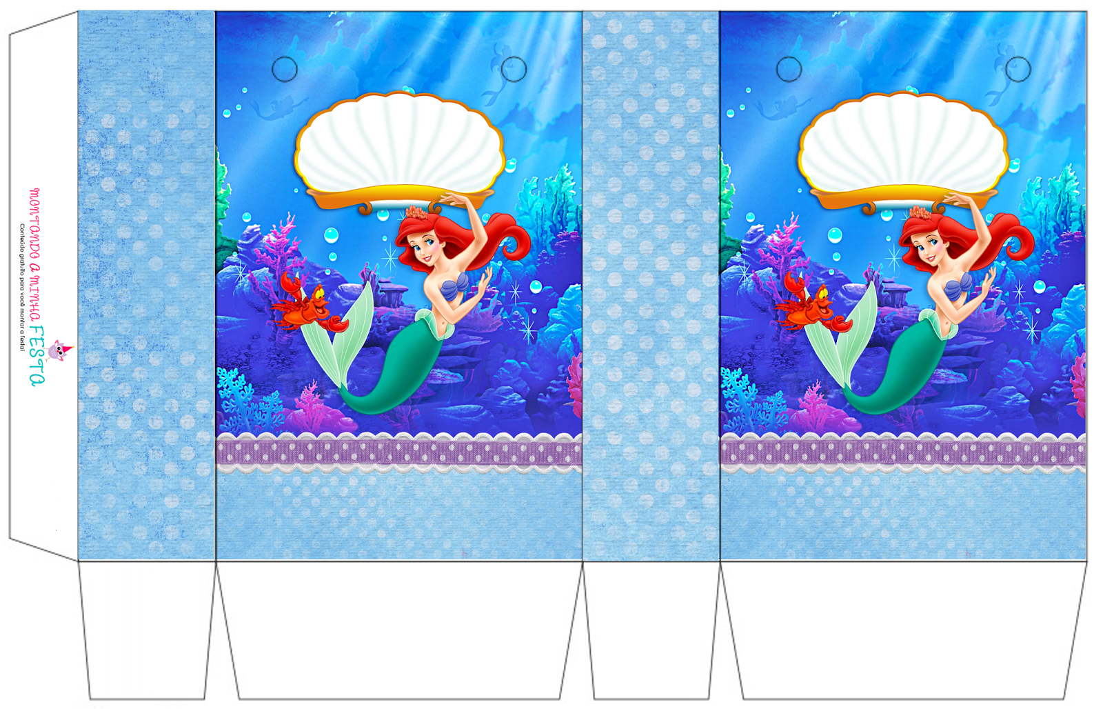 The Little Mermaid Birthday: Free Printable Boxes. - Oh My Fiesta - Free Printable Little Mermaid Birthday Banner